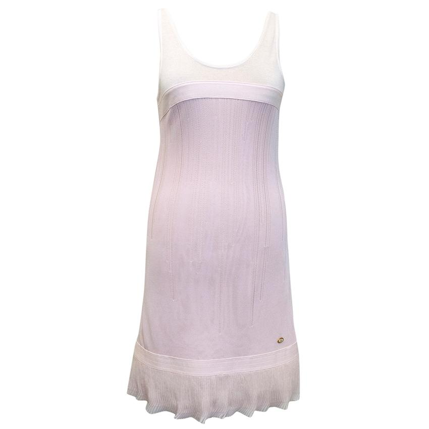Chanel Pink and White Sleeveless Dress