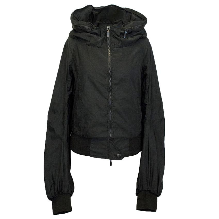 Ermanno Scervino Black cropped jacket with lace hood