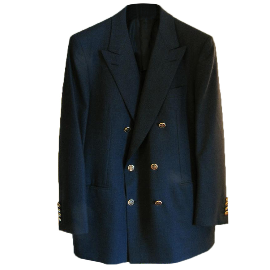 Brioni Luxury Navy Double Breasted Wool Blazer