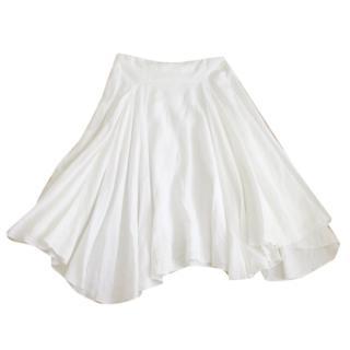 Nicole Farhi White Linen Peasant Skirt