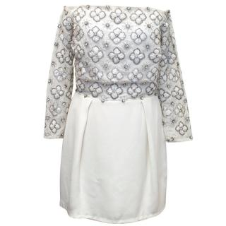 Topshop Boutique Crystal Embellished Dress