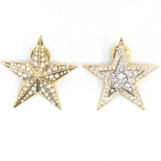 Dries Van Noten crystal star pins
