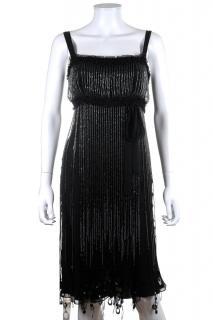 Jenny Packam Mainline Bead Tassel Silk Dress