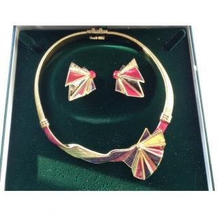 Ungaro Paris Haute Couture Necklace & Earrings Set