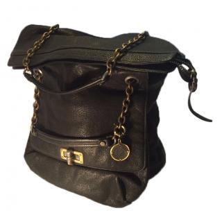 Lanvin Black Leather Pocket Bag