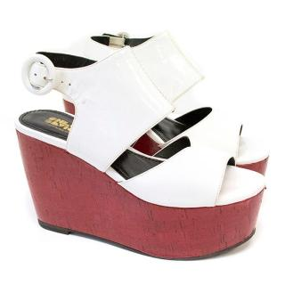 Chloe Sevigny for Opening Ceremony Red & white wedges