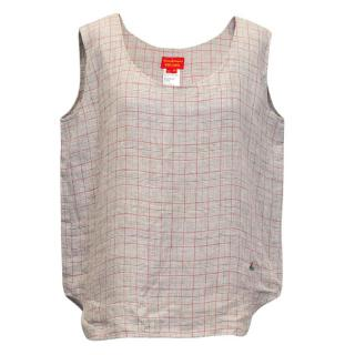 Vivienne Westwood Red Label grey checkered tunic