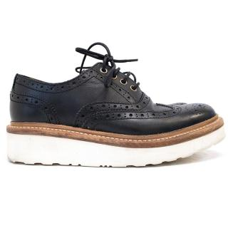 Grenson black leather 'Archie' brogues