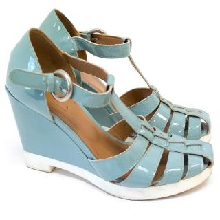 Sonia by Sonia Rykiel blue patent wedges
