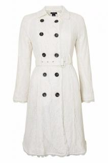 Burberry Black Label Ivory Lace Trench Coat