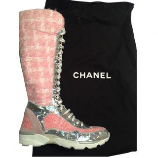0bf99e433f5 Chanel Pink Whool Boot-Sneakers