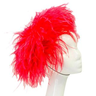 Piers Atkinson red occassion hat