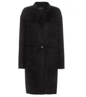 Rag and Bone Black Felted Wool Coat