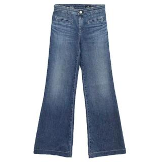 AG Jeans Adriano Goldschmied Blue 'The Lana' Wide Leg Jeans