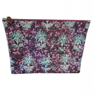 Mary Katrantzou leather clutch
