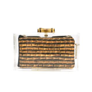 Charlotte Olympia Pandora Bamboo Perspex Clutch