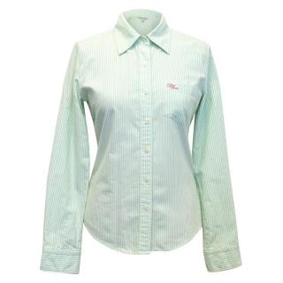 Polo Jeans Company Green and White Striped Shirt
