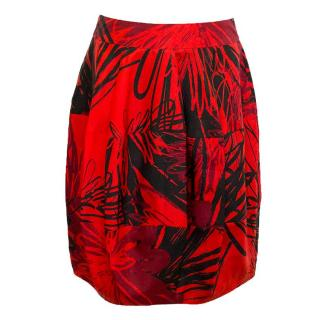Boss red and black print skirt