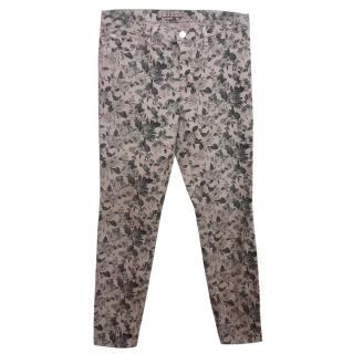 J Brand Mini Floral Sugar Cane Skinny Capri Jeans