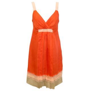 Philosophy di Alberta Ferretti Orange Silk Dress