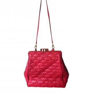 Lulu Guinness red leather cross body