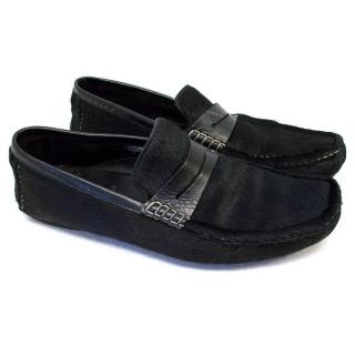 Moschino black loafers