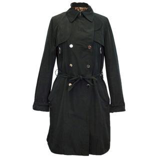 Dolce & Gabbana black trench coat