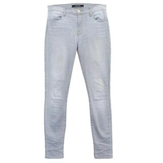 J Brand Faded Grey 'Maria' Skinny Jeans