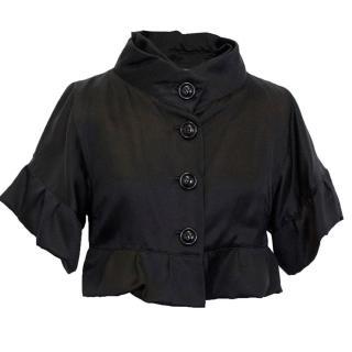 Dolce & Gabbana Black Silk Cropped Jacket