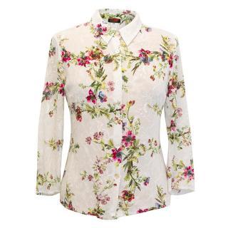 Christian Lacroix Bazaar vintage floral shirt