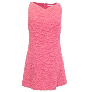 Balenciaga Sleeveless Pink Floral Shift Dress