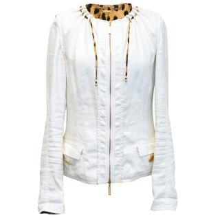 Roberto Cavalli white jacket