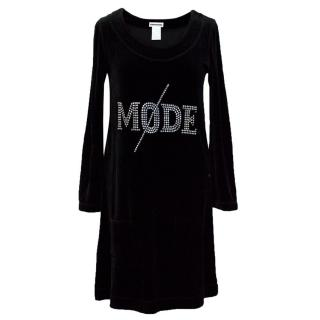 Sonia Rykiel black velvet dress