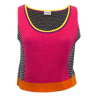 Philosophy di Alberta Ferretti Multicoloured Crop Vest Top