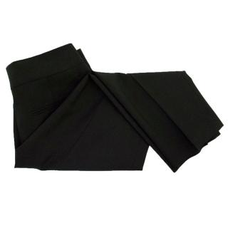 John Richmond black pleated trousers