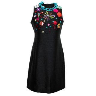 Moschino Cheap & Chic black embellished dress