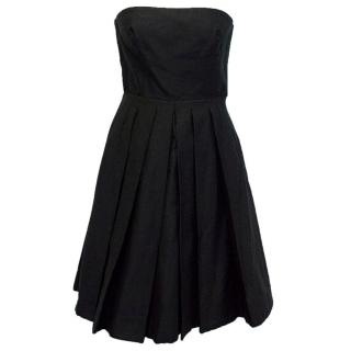 Dolce Gabbana black strapless dress