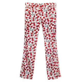 Dolce & Gabbana Cherry Print Trousers