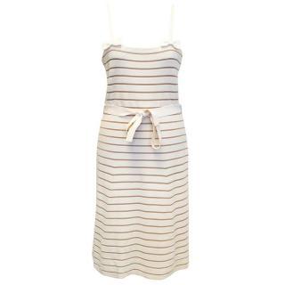 Christian Dior cream striped dress