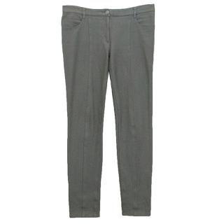 Chanel grey cotton trousers