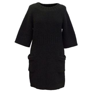Chanel Black Chunky Knitted Dress