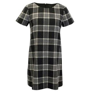 Theory Black and White Checked Dress