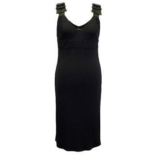 Versace Black Sleeveless Dress