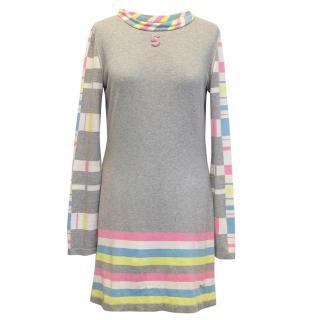 Chanel grey sweater dress