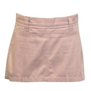 Dolce and Gabbana pink denim mini-skirt