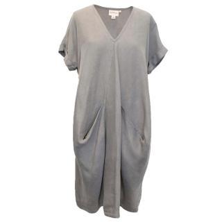 DKNY Pure Grey Silk Oversized Dress