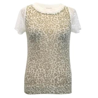 Anna Rachele Jeans Leopard Print Top with Lace