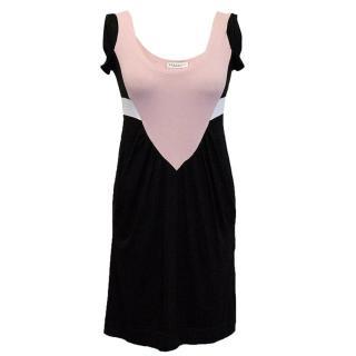 Philosophy Alberta Ferretti Black, Pink and White Dress