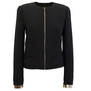 Chloe Black Zip Jacket with Gold Cuffs