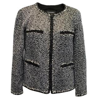 Chanel Black and White Tweed Jacket